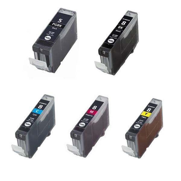 Canon PGI-5 / CLI-8 (BK,PBK,C,M,Y) промо пакет 5бр.